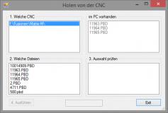 KMS CNC Base, Programmübertragung netzwerkfähige Maschine